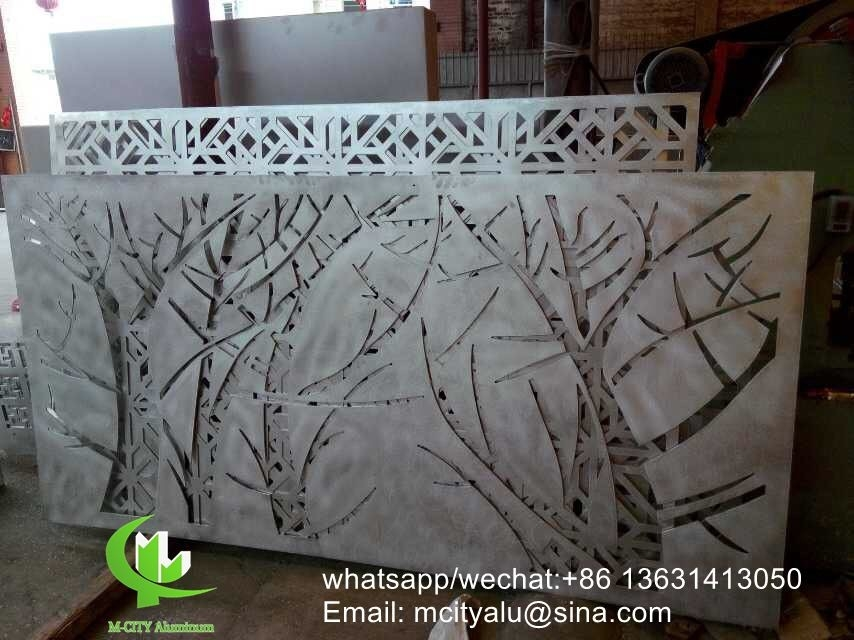 Tree Aluminum Laser Cut Screen Panel Sheet For Fence