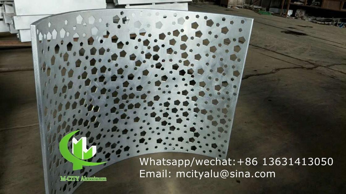 custom made Aluminum laser cutting panel for facade curtain wall