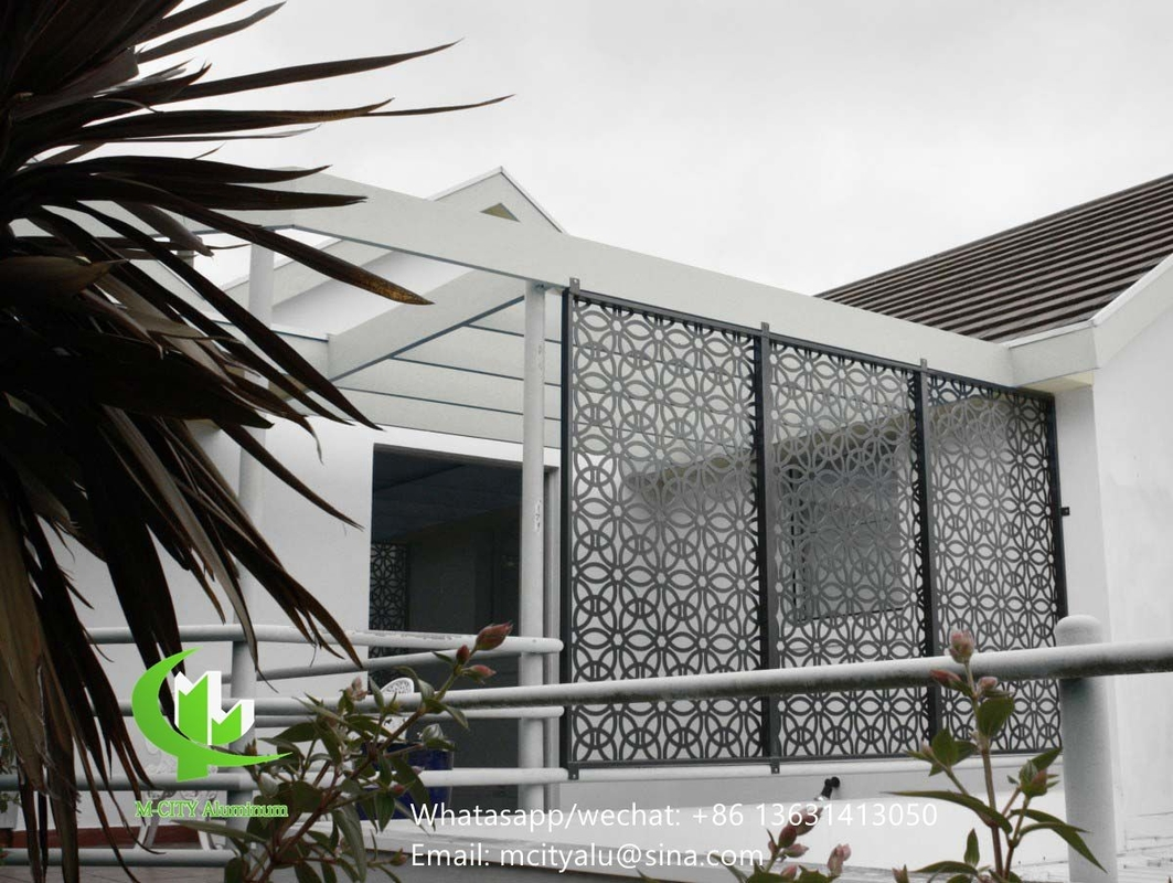 aluminum perforated sceen for balcony with 3mm metal sheet w