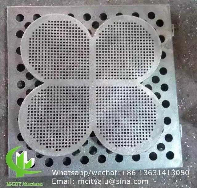 Tree Aluminium Veneer Sheet Metal Facade Cladding Bending