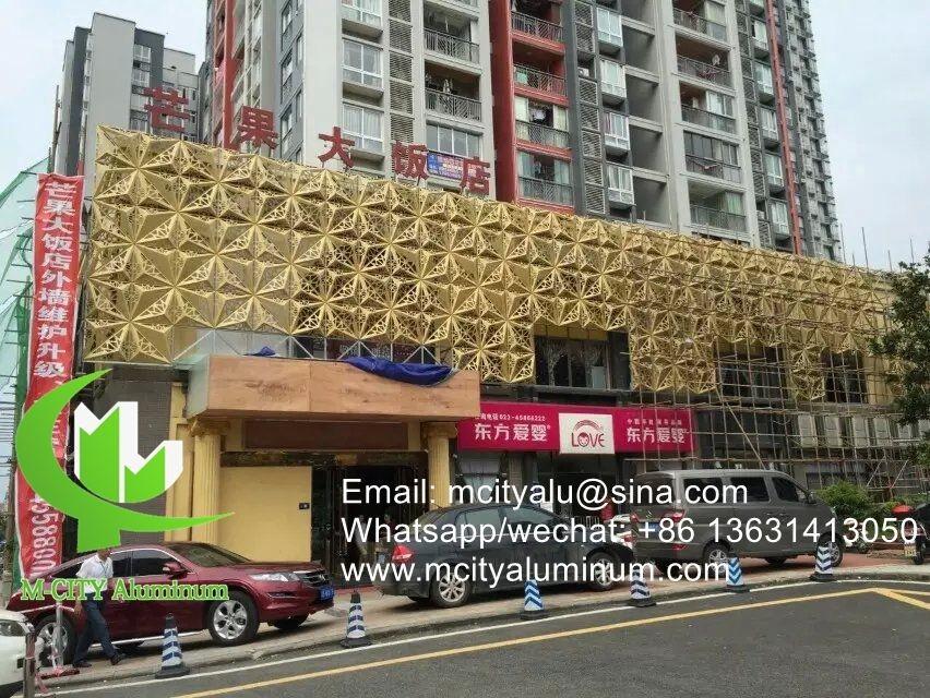 Aluminum Curtain Wall Design : D aluminum perforated cladding panel for curtain wall facade