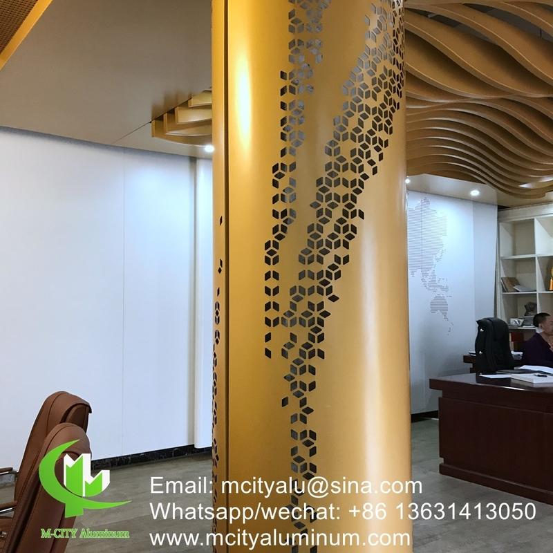 Aluminium Column Cladding Metal Facade Cladding Bending