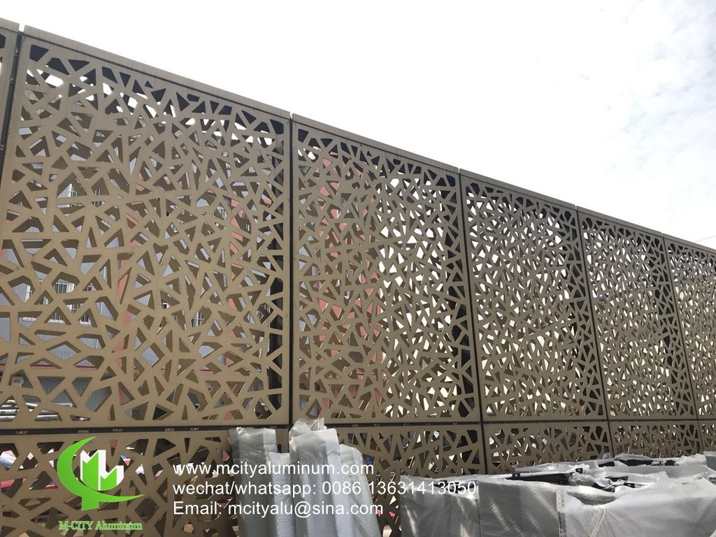 Exterior Privacy Screen Custom Made Solid Panel Aluminum