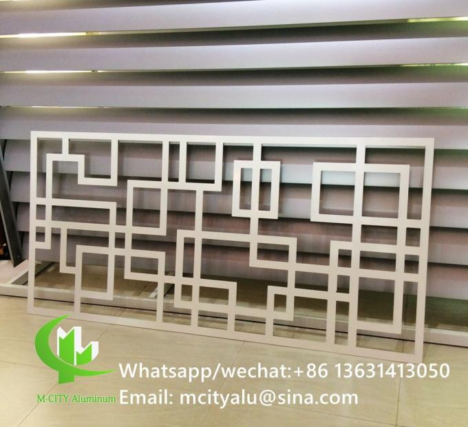 Aluminum carving panel cladding panel 2.5mm thickness for windows decoration