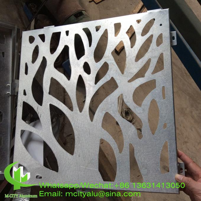 tree design aluminum veneer sheet metal facade cladding panel 2.5mm thickness for curtain wall facade decoration