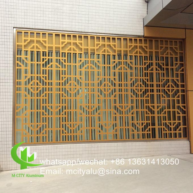 Custom made Metal aluminum cladding panel perforated sheet for cladding facade