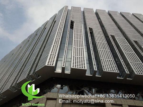 Exterior Custom Made Facade Panel Aluminum Perforated