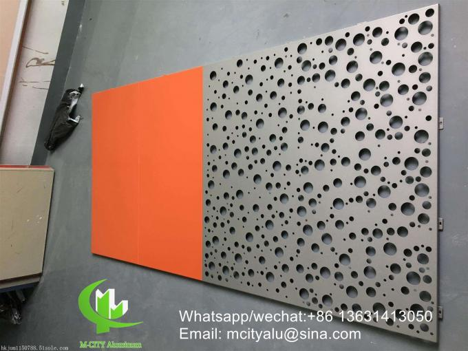 Metal aluminum perforated cladding panel for facade curtain wall  with 3mm thickness aluminum panel