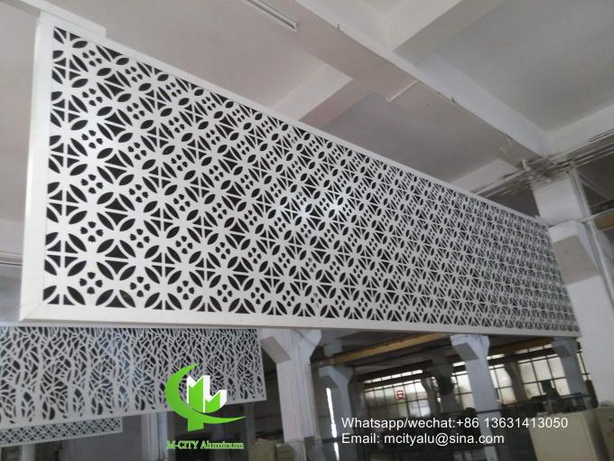 Aluminum hollow screen wall panel for curtain wall facade cladding wall panel with 2mm thickness perforated screen
