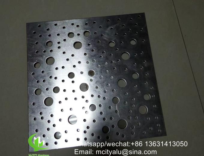 metal great wall bending Aluminum facade panel sheet for building decoration perforated panel
