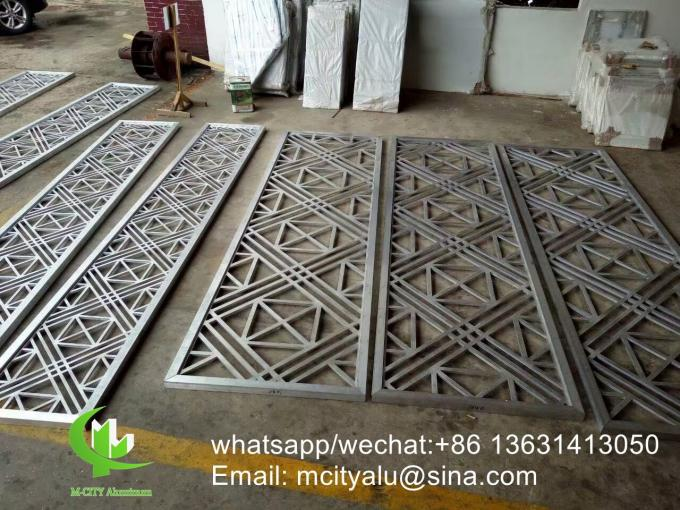 powder coated Perforated 5mm Metal aluminum screen with wood colors
