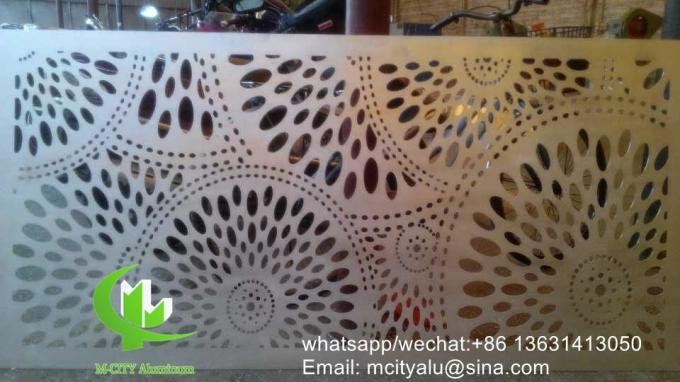 Tree Metal aluminum perforated panel carved panel sheet for fence decoration