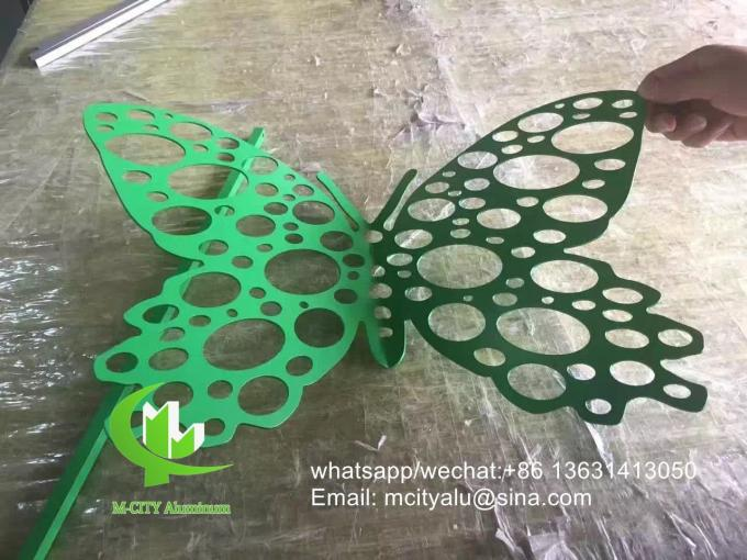 butterfly Metal aluminum decorative perforated sheet for decoration