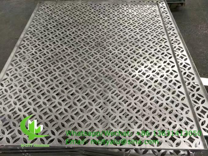 Aluminum solid panel cladding facade for building facade with 3mm powder coated PVDF