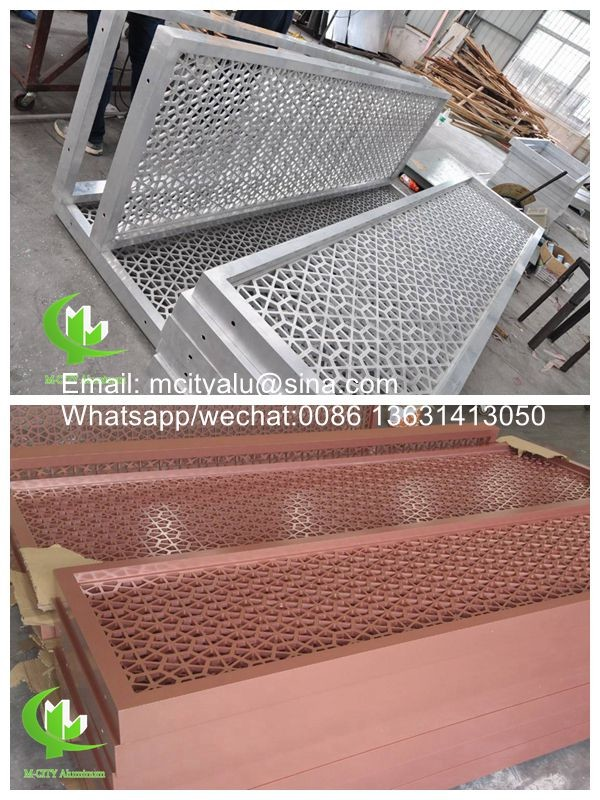 Aluminum perforated sheet for screen room divider fence with 2mm thickness laser cutting