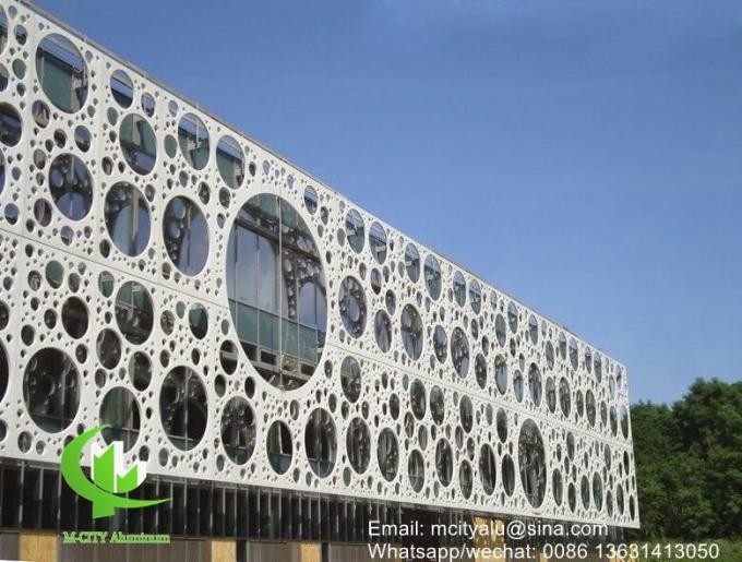 Aluminum perforated facade panel Metal aluminum cladding panel carved panel sheet for facade