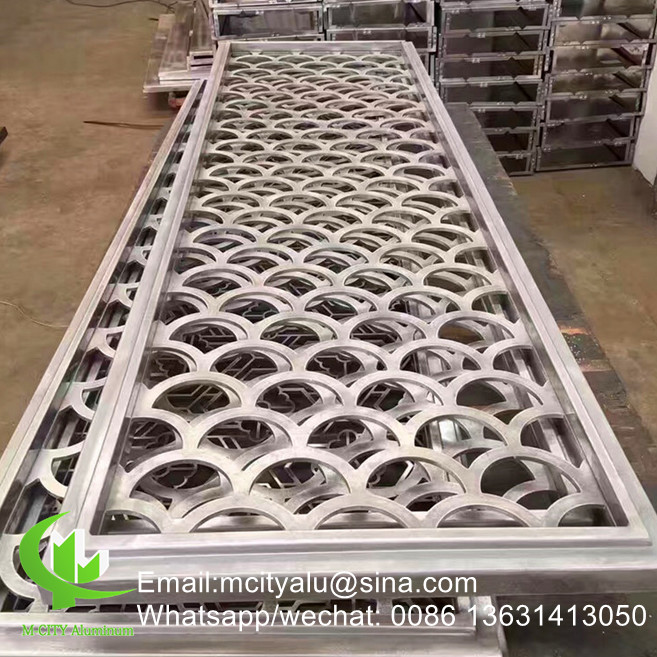 metal railing panel balcony panel Aluminum perforated decorative panel for curtain wall facade cladding wall panel
