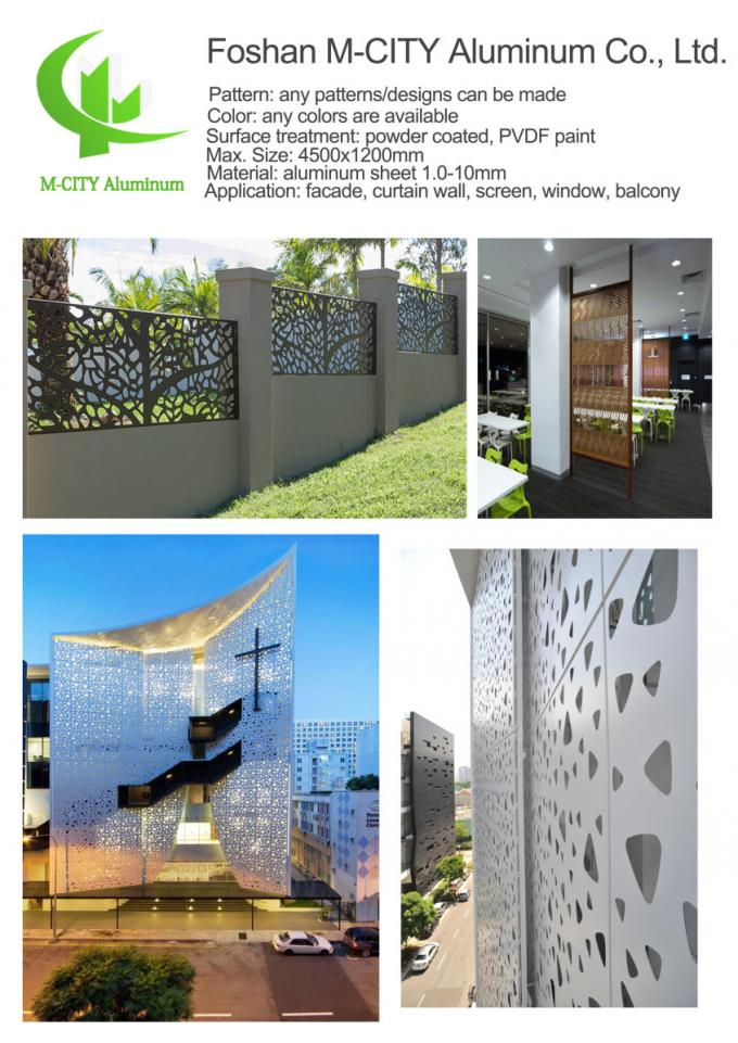 Aluminum cnc perforated laser cut panel Metal aluminum cladding panel engraved carved panel sheet for facade