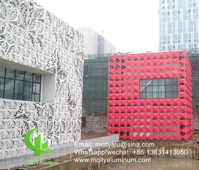 laser cut sheet Aluminum perforated panel for fence facade curtain wall with 2.5mm thickness metal panel