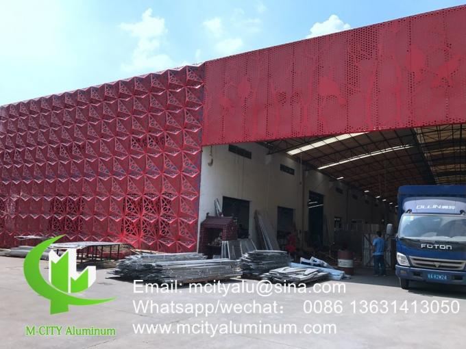 3D folded aluminum panels for building facade customized metal sheet