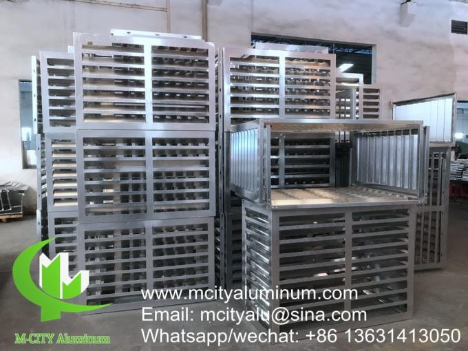 Exterior air conditioner cover aluminum cover for facade decoration