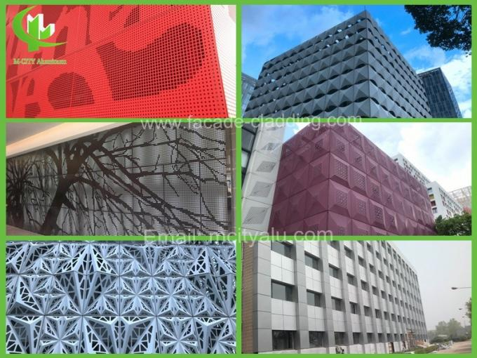 Perforated metal cladding panels aluminum facades supplier in Guangzhou China