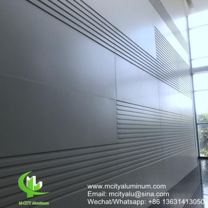 Architectural aluminum sheet solid metal panel for wall cladding