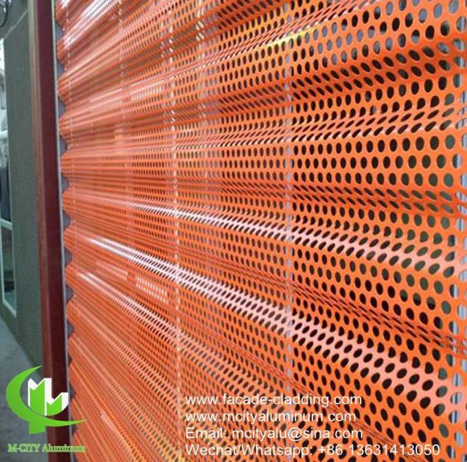 Metal CNC cutting panel aluminum fluorocarbon perforated panel curtain wall for facade cladding