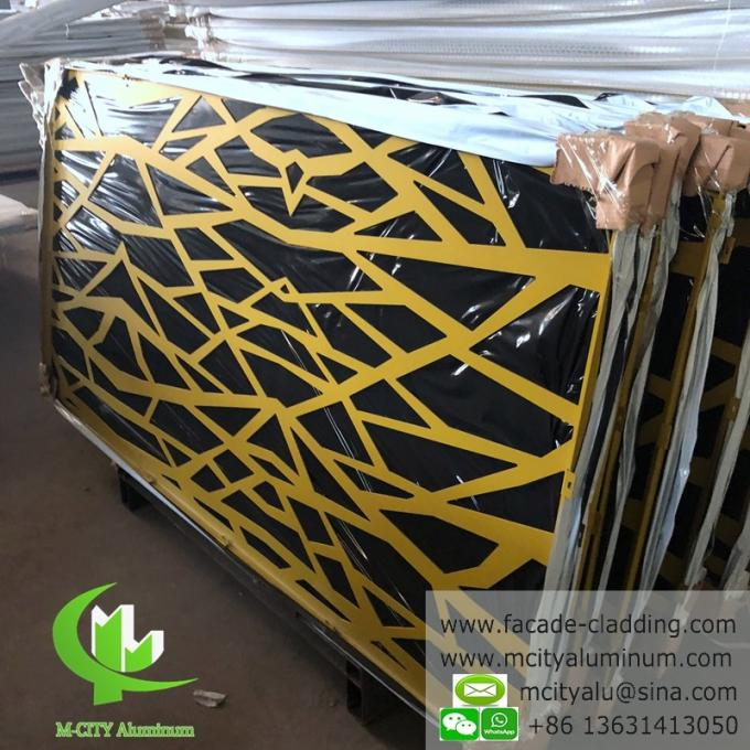 CNC carving panel fluorocarbon perforated aluminum panel curtain wall aluminum panel for facade cladding