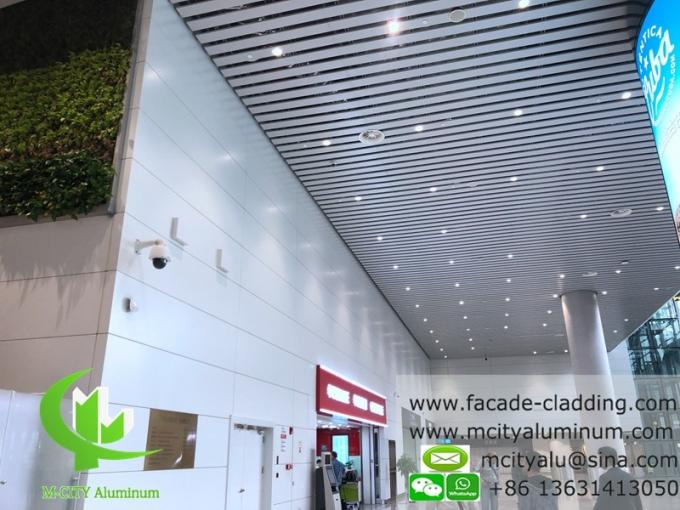metal Aluminum ceiling tile strip ceiling for interior and exterior powder coated white fireproof