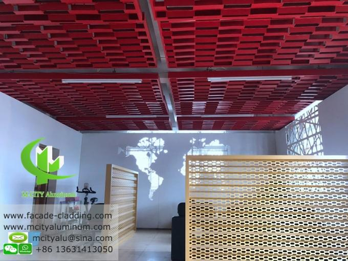 custom made Aluminum ceiling perforated aluminum panel for ceiling decoration