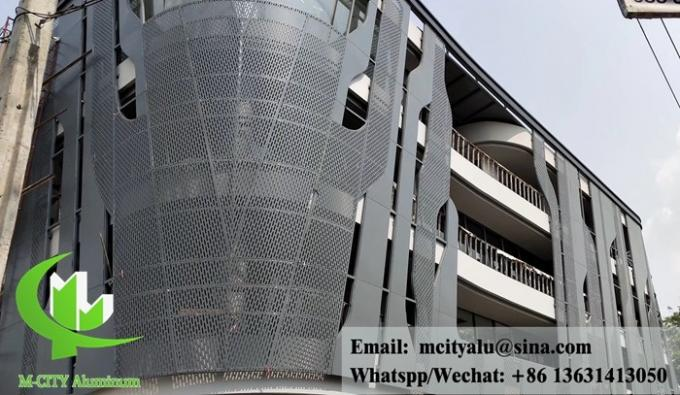 Metal Aluminum expanded mesh architectural screen panel for exterior facade