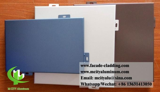 Formed aluminum panel for facade cladding weather proof 3mm thickness