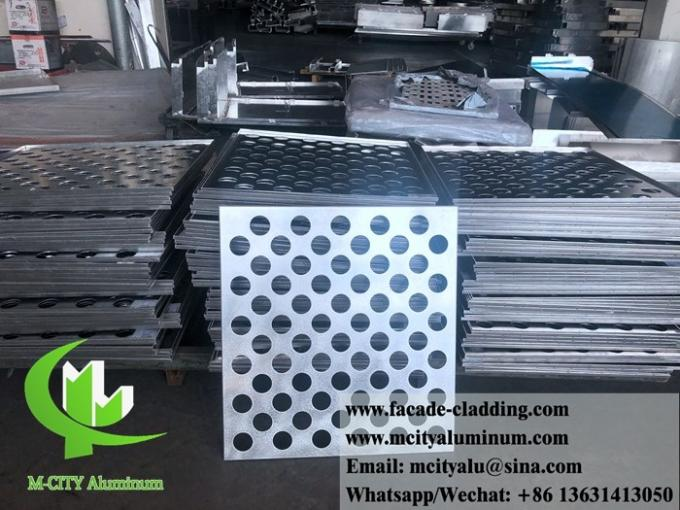 CNC perforated sheet metal Outdoor aluminium sheet facade cladding 3mm folded