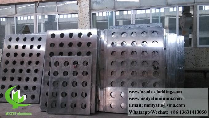 Perforated metal cladding panels metal facades 3mm aluminum sheet