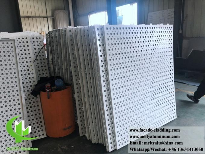 Anti rust perforated screen metal facades aluminum for building windows