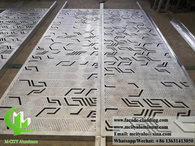 External laser cut Perforated metal cladding aluminium facades for building architectural decoration