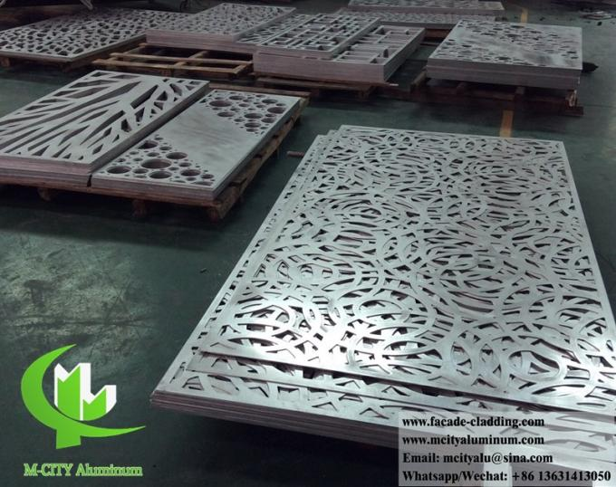 Solid metal panels aluminium cladding decorataion for column round shape with laser cut design